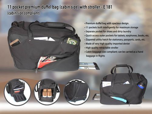 Black Duffel Bag With Stroller, Rs 1499  piece, Kuber Enterprises ... a9b063fc03