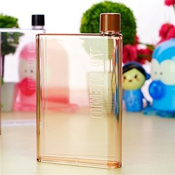 A5 MEMO Notebook Style Flat and Ultra Slim Portable Bottle