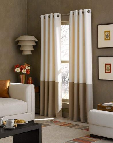 Kurtains2fly Both Sided Ivory Tan Color Room Darkening Blackout Twins Curtains Two Panels Window