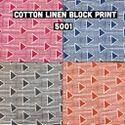 Cotton Linen Block Print