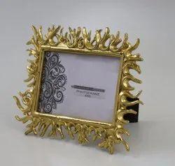 Metal Golden Designer photo frame, For Decoration, Size: 5x7