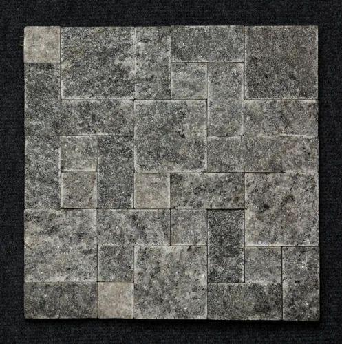 Large Black Granite Roman Patter Mosaic Tiles Thickness 10 12 Mm