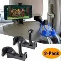 Car Hooks Headrest Hangers, Back Seat Hooks With Phone Holder, 2 In 1 Universal Vehicle Car Seat