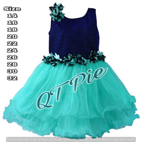 35b345486b60 QT Pie Baby Girls Party Wear Frock - SS Lifestyle