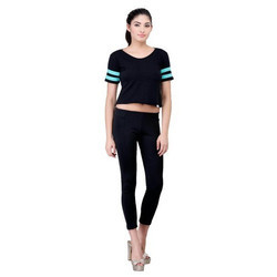 Women Cotton Plain Crop Top