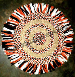 SGE Round Braided Rag Rugs for Floor & Home