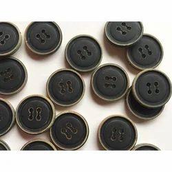 Round Black Designer Button, Usage/Application: Clothes
