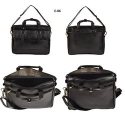 Black MR Leatherette Bag for Men, Size: 14 inch