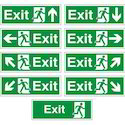Red Or Green Emergency Exit Only Door Sign, Dimension: 300 X 180 Mm