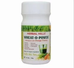 Wheat-o-power Wheatgrass 100gm Orange Flavor Powder - Immunity & Blood Purification