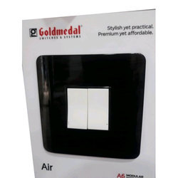 Black & White Polycarbonate Gold Medal Modular Switch Board, For Home, Office etc