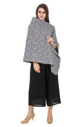 Jacquard Designer Printed Cape In Town Top
