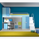Bunk Bed with Work Table