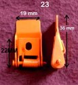 LED Metal Clip Powder Coated Orange 23