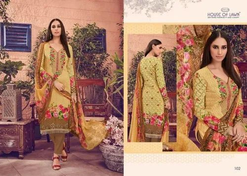 5e8c95ad88 Cotton House Of Lawn Muslin Pakistani Suits, Rs 595 /set | ID ...