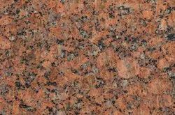 Slab Polished Diamond Red Granite, For Flooring, Thickness: 17MM