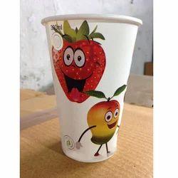 OM Printed 330ML Fruit Juice Paper Glass, 225 Gsm