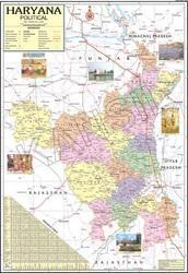 Haryana For Political State Map