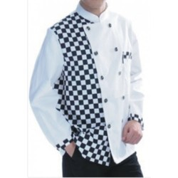 Chef Coat Short Sleeve With Apron Attached
