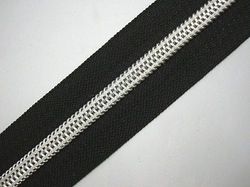 No 4 Nylon Silver Zippers