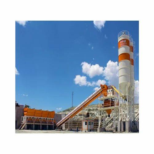 Mild Steel Stationary Concrete Batching Plant