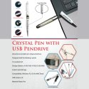 Crystal Pen with USB Pen Drive