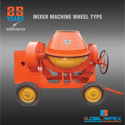 Semi-Automatic 6Hp Air Cooled Engine Portable Type Concrete Mixer, Capacity: 10/7 CFT