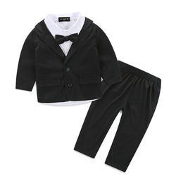 Classy Shirt With Black Blazer Bow And Pant Set