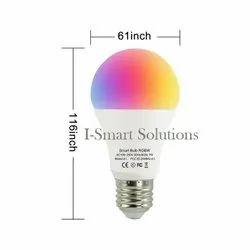 7Watt Plastic Smart LED Light Bulb WIFI Multi Color Light Bulb For Indoor