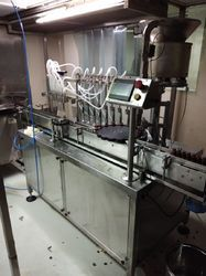Automatic 4 Head Vial Filling & Rubber Stopering Machine