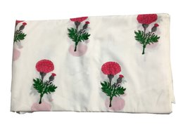 Vinayak Handicraft Natural Color Jaipur Handmade Flower Design Hand Block Print