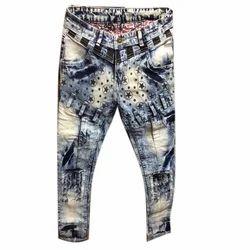 Regular Printed Denim Jeans