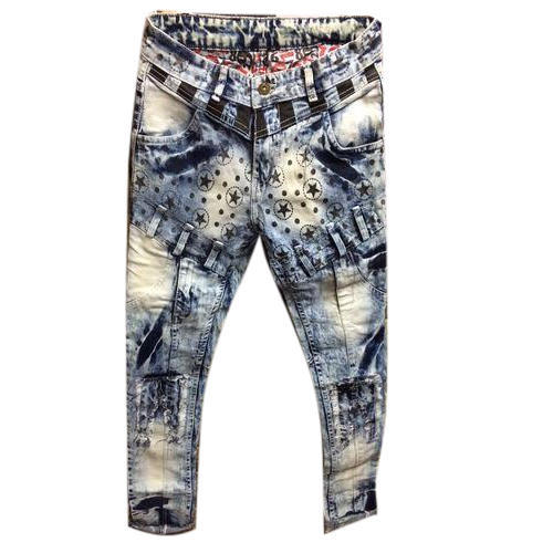 Regular Printed Denim Jeans