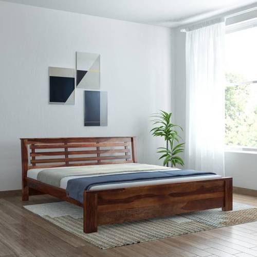 King Brown Rosewood Bed
