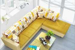 5 Seater L Shape Sofa Set, Dimensions:1940 x 850 x 910 x 2115 x 850 x 91 mm