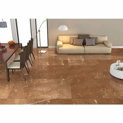 Loriox Glossy Brown Ceramic Vitrified Floor Tile, Size: 120x240 cm,  Thickness: 8-10 mm, Rs 670 /square meter | ID: 22462844788