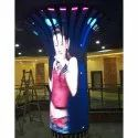 Outdoor Waterproof SMD P4 Street Pole Advertising LED Screen
