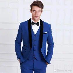 d2493cd5d119 Silk 3 Piece Suit For Men Blue