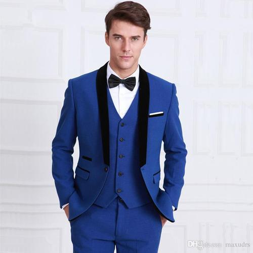 3 Piece Suit For Men Blue