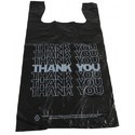 Handle T-shirt Bags In Black Color