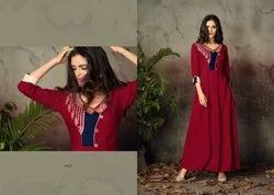 Heavy Rayon Long Ladies Kurti