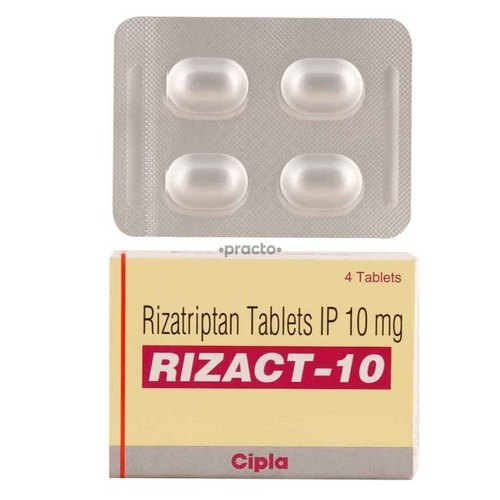 Rizact Rezact 10mg, 4 Tables, Prescription