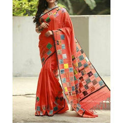 Ladies Nakshi Kantha Applique Saree