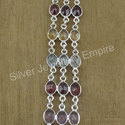 Multi Gemstone 925 Sterling Silver Jewelry Bracelet