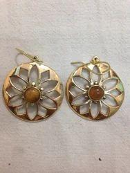 Brass Cut Work Earring