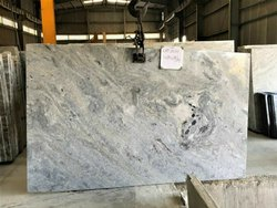White Polished Finish River Blue Marble, Thickness: 30 MM, Size: 300CM*180CM