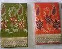 Embroidery Work Handloom Saree