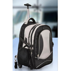 Black, White PNP Luxury Trolley Backpack