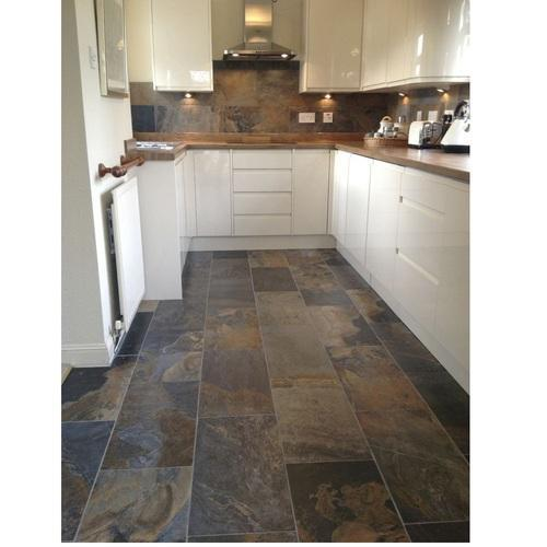Brown Ceramic Kitchen Floor Tile Thickness 6 8 Mm Rs 30