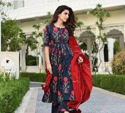 Cotton Printed Palazzo Suit